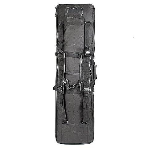 Extérieur tactique Pistolet Fusil Chasse Étui rembourré de transport Sac de rangement Sac à dos, noir
