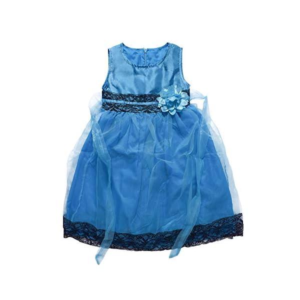 Yilaku Vestido Vintage Estampado de Niñas Años para Fiesta Cóctel Vestido Algodón de Verano sin Mangas 3