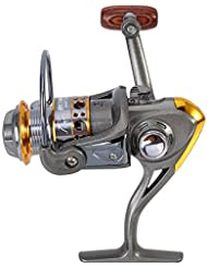 Carrete de Pesca Spinning de Metal Rueda de Pesca de Carpa 13 Ejes 1000-7000 Series con 5.2: 1 Relación de Engranajes para Pesca en Agua Dulce Agua Salada ( Design : 7000 Series )