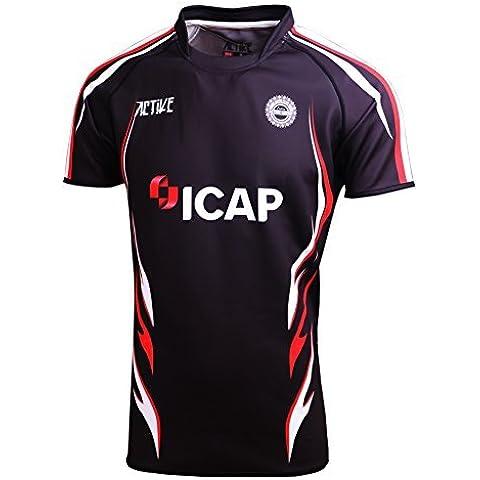 ACTIVE Custom design sport t-shirt UK rugby in poliestere nero jersey