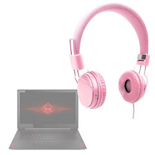 DURAGADGET Auriculares De Diadema Color Rosa para Portátil ASUS K540LA XX659T / Chuwi LapBook 12.3 / HP 14 bs036ng, HP 15 bs030n, HP OMEN 15-ce002ns, HP Pavillion 15 cc508ns