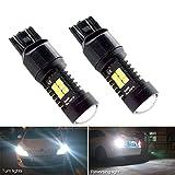 Juego de 2 bombillas de luz LED T20 7443 luces de noche anti-error W21 / 5W Luces de circulación diurna Luces de circulación diurna y luces de freno traseras Iluminación de blanco 6000K