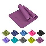 Aisoco Premium TPE Yogamatte- Pilates-Matten -Gymnastikmatte, Rutschfest, Umweltfreundlich - mit Tasche & Trageband