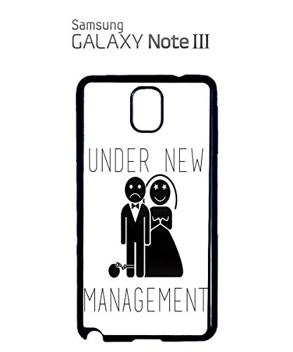 Under New Management Married Game Over Mobile Phone Case Back Cover Hülle Weiß Schwarz for Samsung Note 3 White (Disney-management)