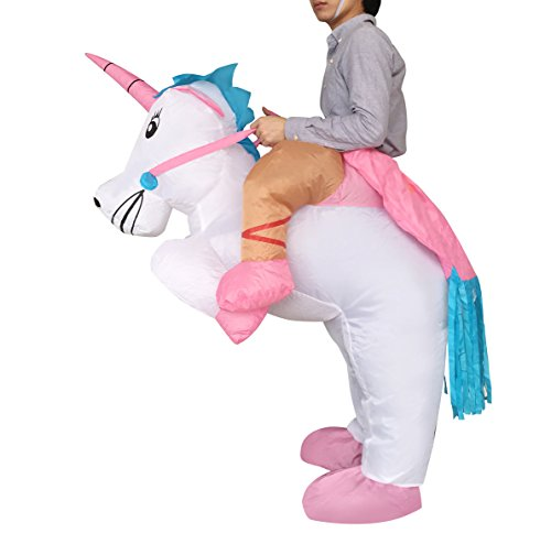 aufblasbare Fahrt Einhorn-Partei-Kleid-Klage-Fantasie-Kostüm (Halloween-kostüme Fantasy)