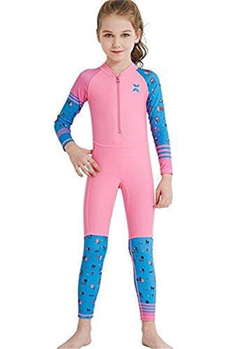 Baby Jungen Mädchen Schwimmanzug UPF 50+ Neoprenanzug UV Schutz Langarm Badeanzug für Wassersport M