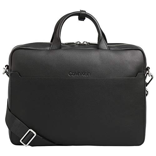 Calvin Klein Herren Sliver 1g Laptop Bag Tasche, Schwarz (Black/Steel Blue) 1x1x1 cm -