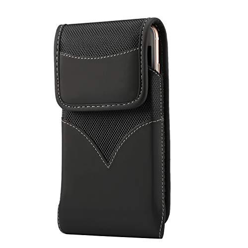 Drehen Sie Double-Velcro-Schnalle Durable Oxford Gewebe Elastic Pocket Herren-Handy Freien hängen Gürteltasche Hülse unter 6,5