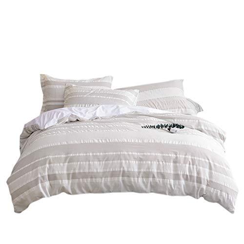 Umi. Essentials Bettbezugsset mit einem Kissenbezug aus reiner, garngefärbter Seersucker-