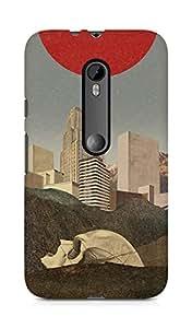 Amez designer printed 3d premium high quality back case cover for Motorola Moto G3 (Skull)