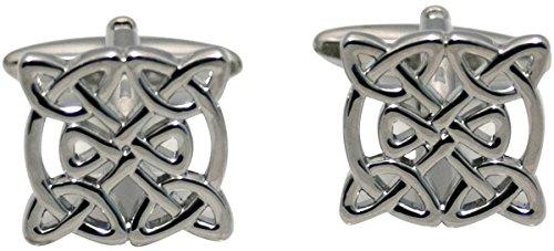 Zennor Silver Celtic Design boutons de manchette de