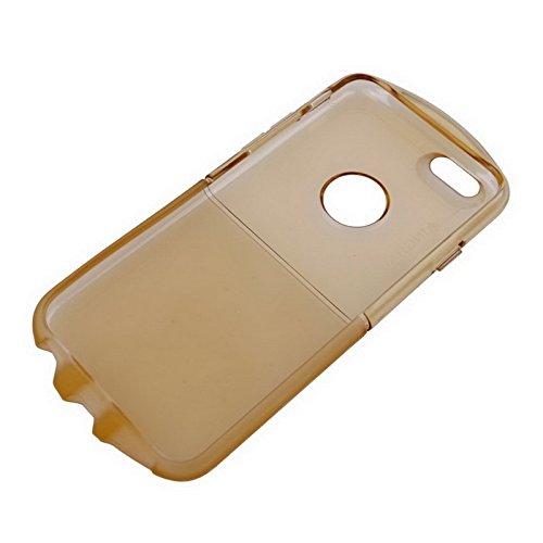 Wkae Case & Cover glacé pour iphone soft tpu sky protecteur 6 &6s ( Color : Grey ) or