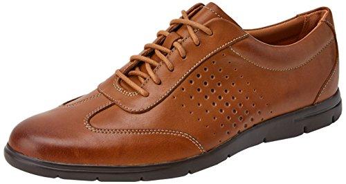 Clarks Herren Vennor Vibe Derbys, Braun (Tan Leather), 47 EU