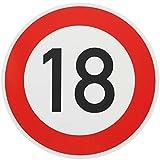 ORIGINAL Verkehrszeichen 18 Geburtstagsschild  (m. Sondertext) Verkehrsschild Geburtstag Schild Straßenschild