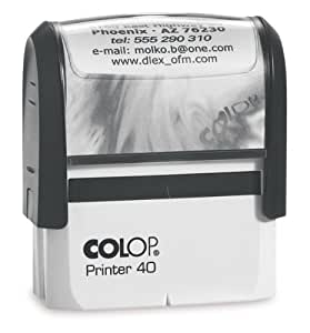 Stempel colop printer 40 schwarz elektronik for Stempel amazon