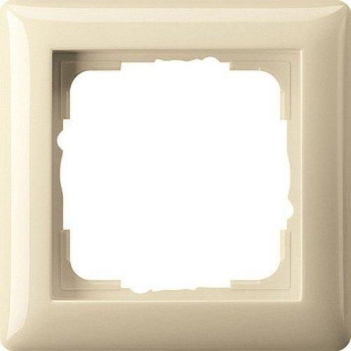 Gira Rahmen 021101 1fach Standard 55 cremeweiss, Cremefarben