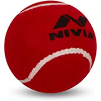 Nivia Heavy Tennis Ball Cricket Ball (Pack of 6) - 6NiviaR, Rojo