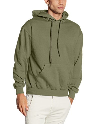 Fruit of the Loom Herren Kapuzenpullover SS026M, Green (Classic Olive), L (T-shirt-rugby Classic)