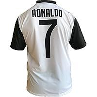 JUVE Camiseta de Fútbol Cristiano Ronaldo 7 CR7 Juventus F.C. Home Temporada 2018-2019 Replica Oficial con Licencia - Todos Los Tamaños Niño (2 4 6 8 10 12 AÑOS) y Adulto (S M L XL) (8 AÑOS)