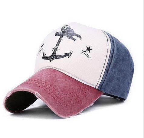 Selldorado® - Gorra de béisbol retro, estilo vintage, rojo