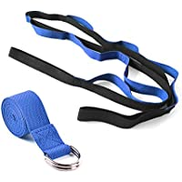 Portable Yoga Stretching Belt Non-Elastic Multi 10 Loops Yoga Strap For Stretching Strap and D-Ring Buckle Stretch Band