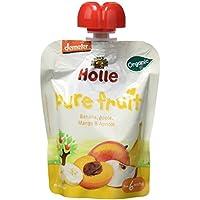 Holle Smoothie Plátano, Manzana, Mango con Albaricoque (+6 meses) - Paquete de 12 x 90 gr - Total: 1080 gr