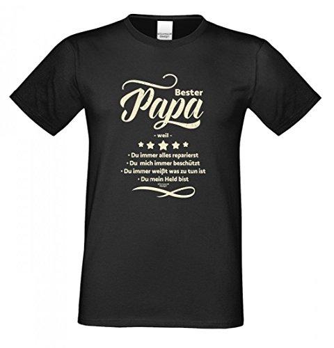 Family T-Shirt - Bester Papa weil - Hemd als passendes Geschenk oder tolles Outfit für Deinen Vater - schwarz - XL