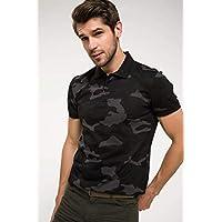 DeFacto Erkek Tişört Kamuflaj Desenli Polo T-shirt