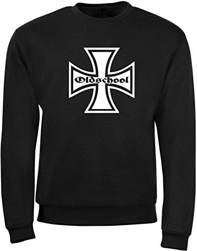 Iron Shirt Aufkleber (BDS-Folientechnik Oldschool Herren - Sweatshirt Eisernes Kreuz Iron Cross)