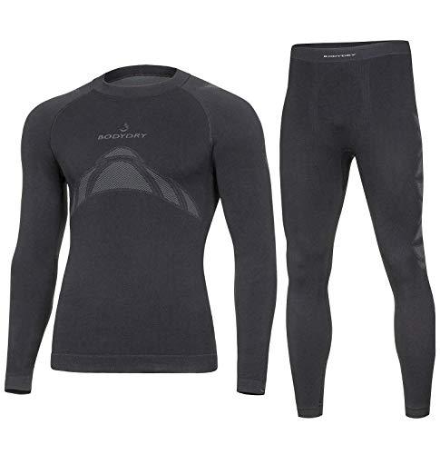 Bodydry « Turtle » Ensemble de sous-vêtements thermoactifs et respirants pour ski/snowboard/moto XXL noir