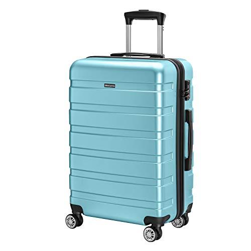 Amasava - Maleta Rígida Equipaje Mediano,65L,Cerradura TSA,ABS+PC,24', 40.5 x 25 x 65cm, 4 Ruedas multidireccional, Azul