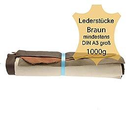Pezzi di pelle extra large 1 kg marrone.DIN A3 di grandi dimensioni con obbligo di scarpe CrossCountry®.