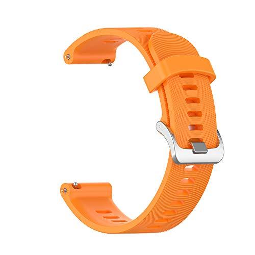 6SlonHy Mode Ersatz weiche verstellbare Bequeme Silikon-Armband-Uhrenarmband für Garmin Forerunner 245M / 245 Orange Regulär