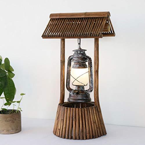 Tellgoy Handgefertigte Bambus Amerikanisches Land Antike Kerosin Laterne Lampe Wohnzimmer Lampe Schlafzimmer Bar Kunstwerk La,A