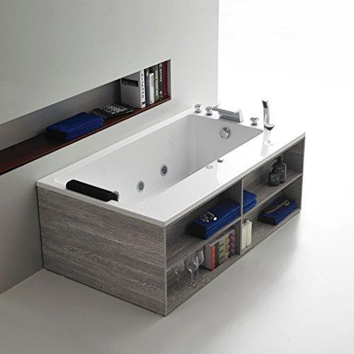 Art-of-Baan® - Whirlpool Badewanne Acryl Massage 1650x950x600 + Badenwannenverkleidung + Armatur