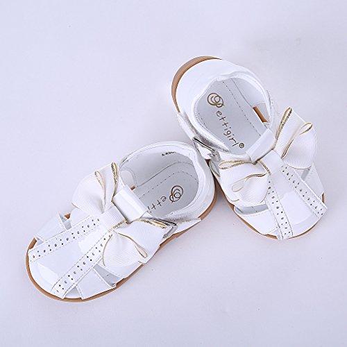 Pettigirl Ragazze Arco Spagnolo Sandali Bambino Piccolo Bambini Estate Partito Nozze Scarpe Bianco