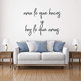 Beach345sley Spanish Quote Decal Vinyl Wall Design AMA Lo Que Haces Y Haz Lo Que Amas Elegant Latin American Themed Lettering Decor