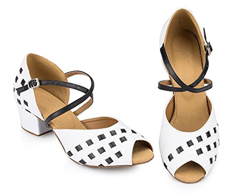 TDA , Peep-Toe femme 4.5cm Heel White