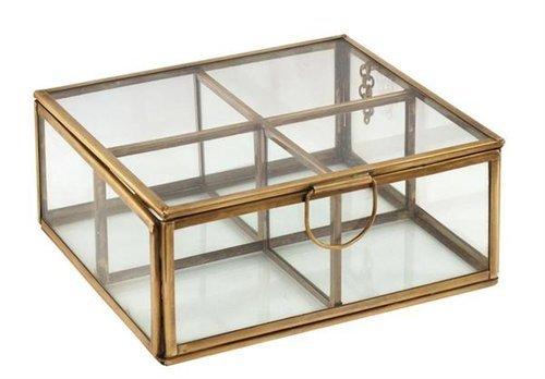 Signes Grimalt - Caja Retro Metal y Cristal 15 cm 76456SG
