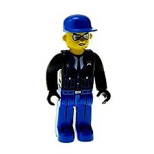 b68dd2f39e935 Bausteine gebraucht 1 x Lego System Figur 4 Juniors Polizist Mann Police  Jacke schwarz Hose Basecap