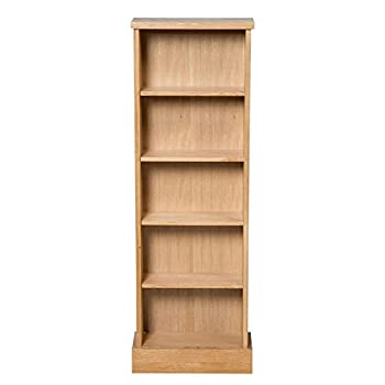 Hallowood Waverly CD Storage Rack in Light Oak Finish 120 DVDs | Solid Wooden Tower/Holder/Stand/Unit with 5 Shelves