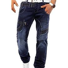 Recto Para hombre pantalones vaqueros ID577 de gran tamaño ajuste (pierna recta), pantalones tamaño: W30