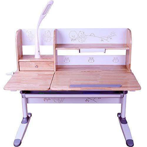 Kinderstudienstuhl für Kinder Kinder Studie Schreibtisch Stuhl Tisch Set Kippbare Tisch Und Stuhl Für Kinder Kunst Holz Tisch Set Workstation Höhenverstellbar ( Farbe : Wood , Größe : Einheitsgröße )