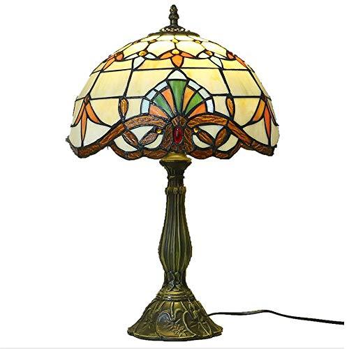 Y&HY Tiffany Stil handgemachte Tischlampe, europäischen Glas Lampenschirm Leselampen Wohnzimmer Schreibtisch Lichter (12 Zoll)