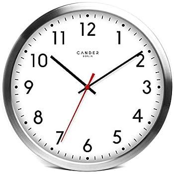 Cander Berlin MNU 4130 Weiße Wanduhr Aus Aluminium Mit Lautlosem Sweep  Uhrwerk Für Den Außenbereich   Badezimmerwanduhr   12 Zoll (Ø) 30,5 Cm