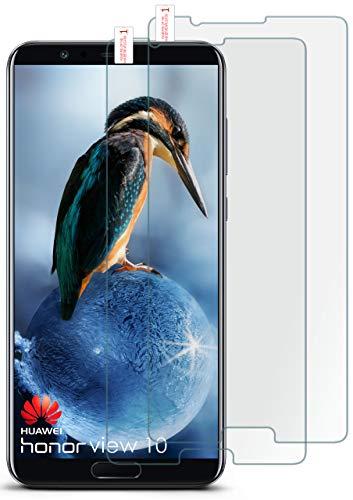 moex 2X 9H Panzerfolie für Huawei Honor View 10   Panzerglas Bildschirm Glasfolie [Tempered Glass] Screen Protector Glas Bildschirmschutz-Folie für Huawei Honor View 10 Schutzfolie