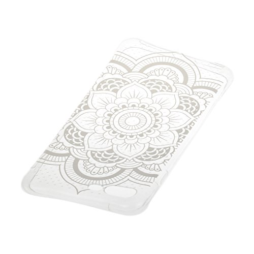iPhone 7 Plus hülle Case Cozy Hut Ultra Hybrid TPU Bumper for iPhone 7 Plus Hülle Schutzhülle Shock Absorption Plating TPU Case Silicone Cover für iPhone 7 Plus (5,5 Zoll) (2016) - Lotus Kaleidoskop