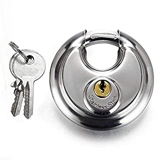 70mm Stainless Steel Round Shape Cake Lock Warehouse Door Disc Padlock Bicycle Anti-Theft Chain Lock