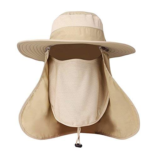 7a96c53f EINSKEY Fishing Hat with Neck Flap Summer Outdoor UV Protection Sun Hat  Waterproof Safari Hat Foldable