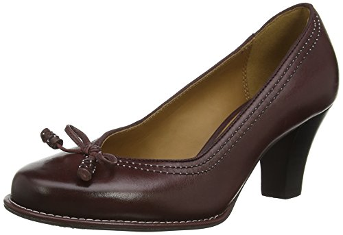 Clarks Bombay Lights, Decolleté chiuse donna, Rosso (Rot (Burgundy Leather)), 39